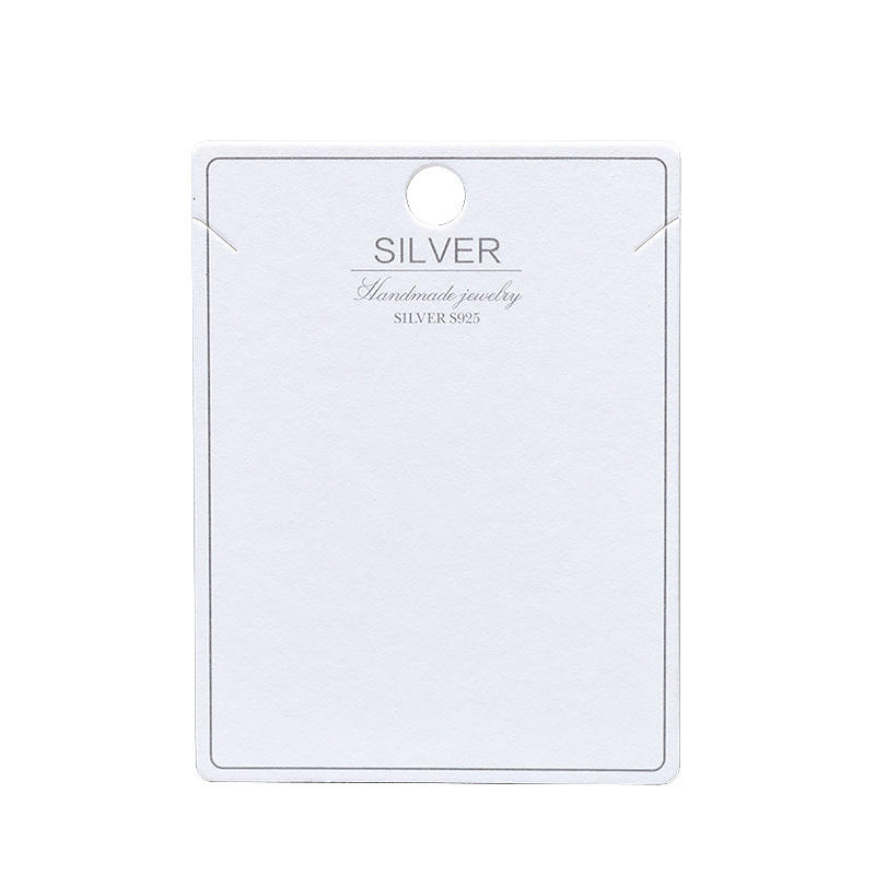 Stock Stud Earrings Packaging Display Cards bracelet jewelry packaging Necklace S925 silver jewelry cards Logo customization