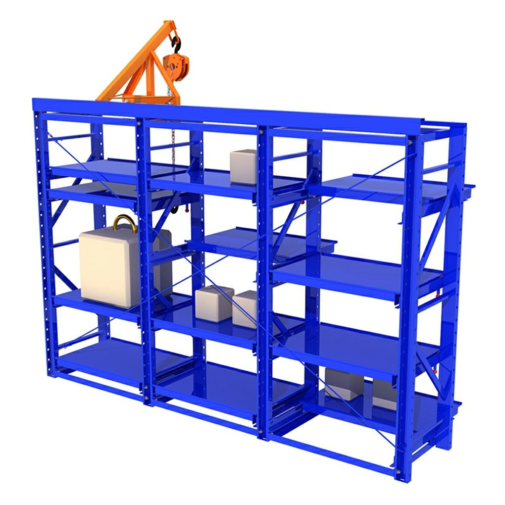 How Selling Economical Heavy Duty Factory Mold Drawer Racking Heavy Mold Rack Mold Storage Rack roll out rackMould Tool Racking