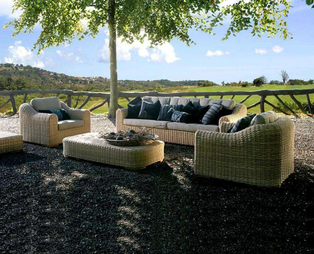 Classic wicker rattan bistro sofa set garden outdoor furniture