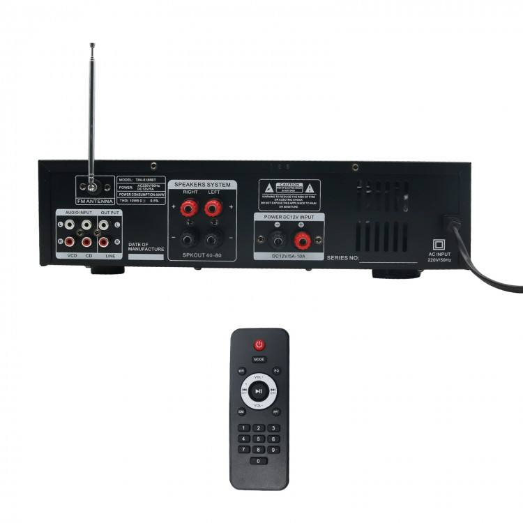 2000 wát Bluetooth Khuếch Đại Powered Stereo Karaoke 4ohm DJ 2 MIC FM Radio MP3 Đĩa