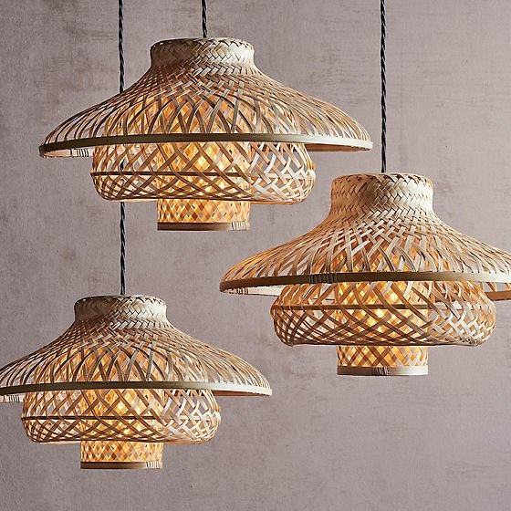 High quality Hot trend decoration Rattan lamp shade / unique natural full option of ceiling lampshade