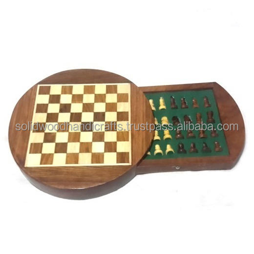 WOODEN HANDICRAFTS WOODEN TRADITIONAL CHESS BOARDS GAMES ITEM