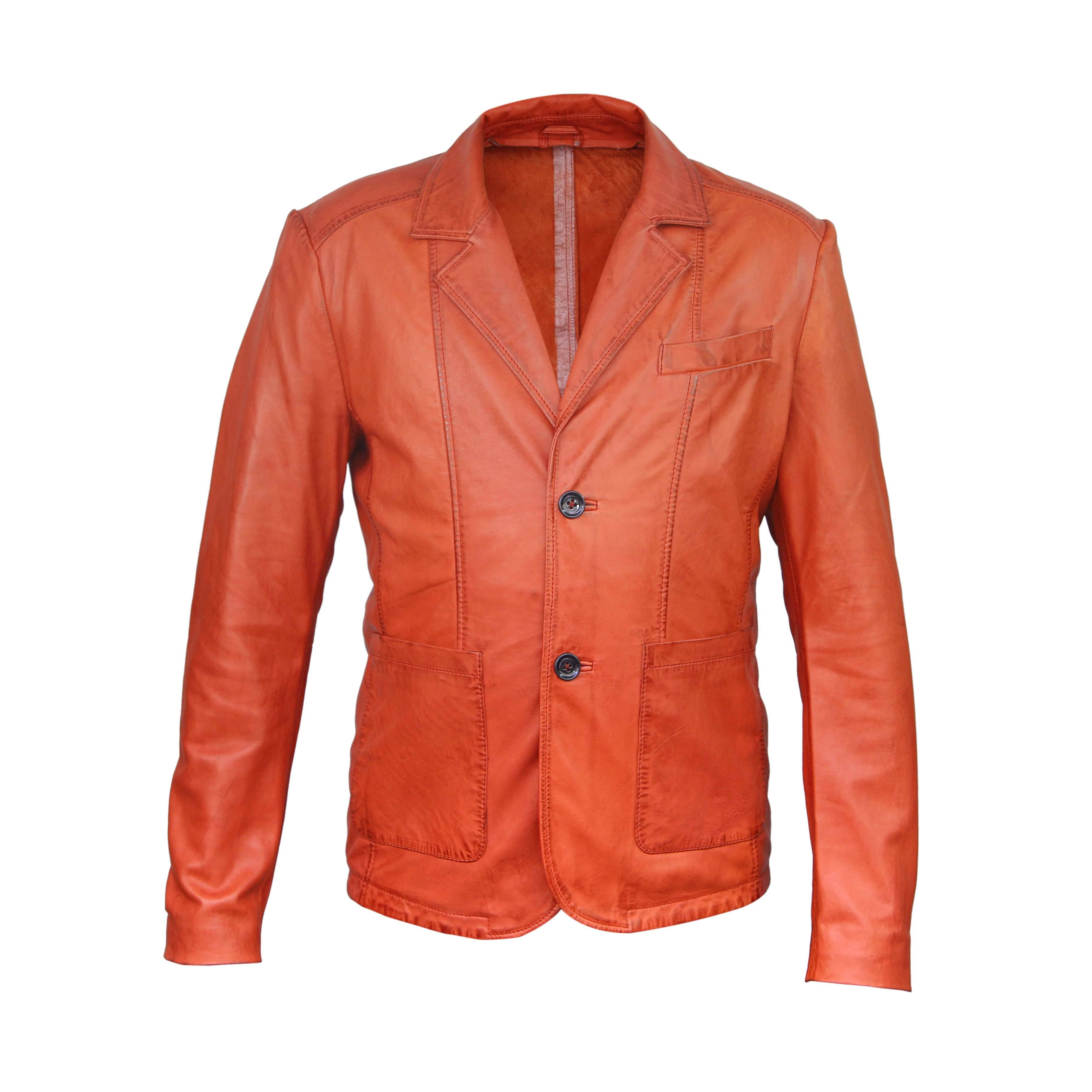 LEATHER blazers for mens 100% leather jackets for custom size fashion out fits for mens