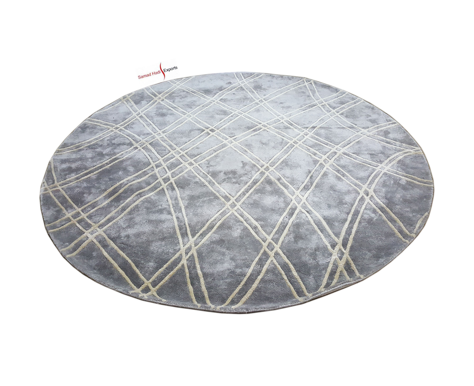 Floor Rugs Shiny Viscose Hand Tufted Carpets Tapete Manufacturer India