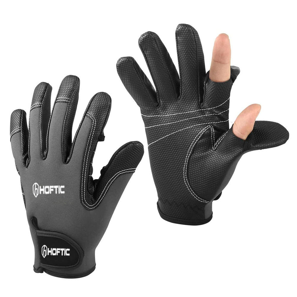 3 Low Cut Fingers Anti Non Slip Fishing Glove