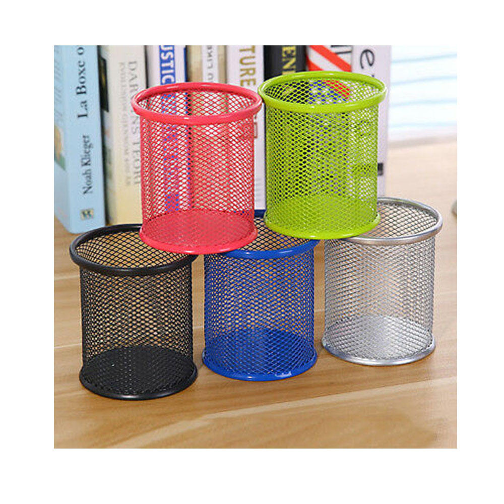 Multicolor Round Mesh Iron Pen Holders Hot Selling and High Quality Direct Indian Manufacturing Company Sale