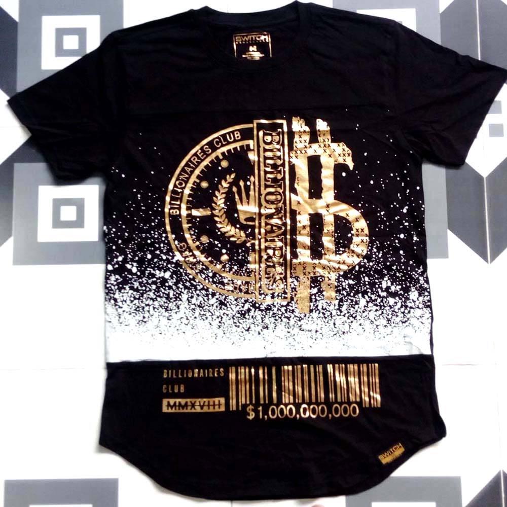 High quality most popular brand 100% cotton plain dyed foil print design Men's t Shirt