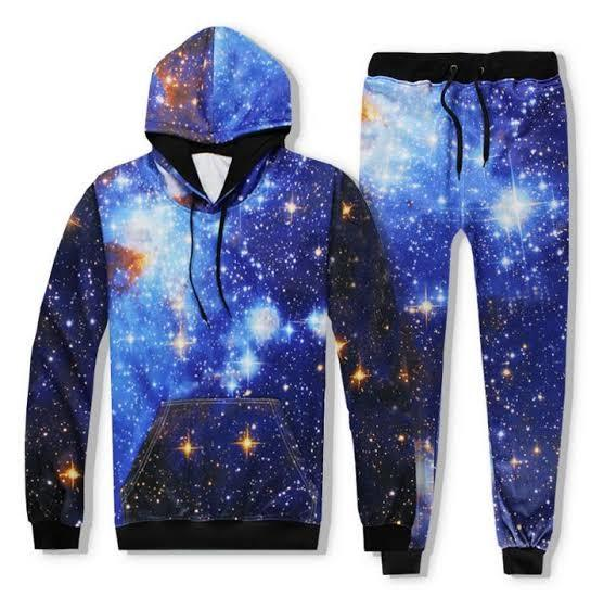 Men Women Joggers Pants Hoodie Galaxy 3D Hoodies Starry Sky Print Hooded Sweat shirts Unisex Track suits Outfit Sweatpants Set