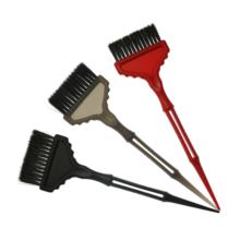 Private logo plastic handle nylon bristle hair salon color product hair drying brush