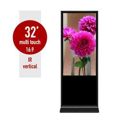 Floor standing SR-32IR information kiosk 32 inches