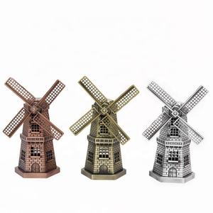 Standbeeld Home Decoratie Holland Sculptuur Beeldje model Metalen Nederlanse Windmolens