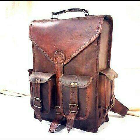 Leather Bag Messenger Satchel for men and women, Vintage Genuine leather Briefcase Bag