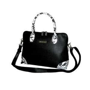 Luxury Black White Snake Design Handbags for Women