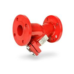 Ductile iron y-strainer, 300 psi, flanged ul