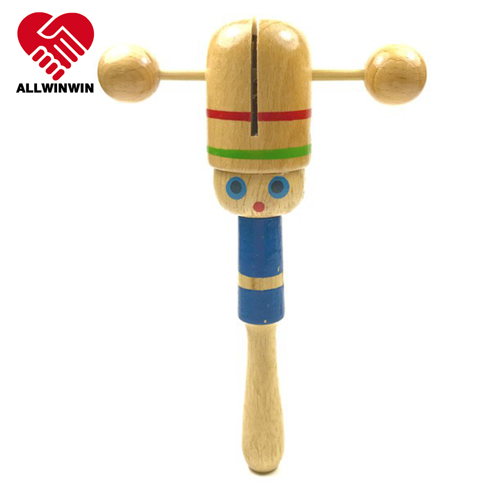 ALLWINWIN RAT02 Rattle Toy - Clear Coat Chinese Hand Shake Bell Wooden Amazon Developmental