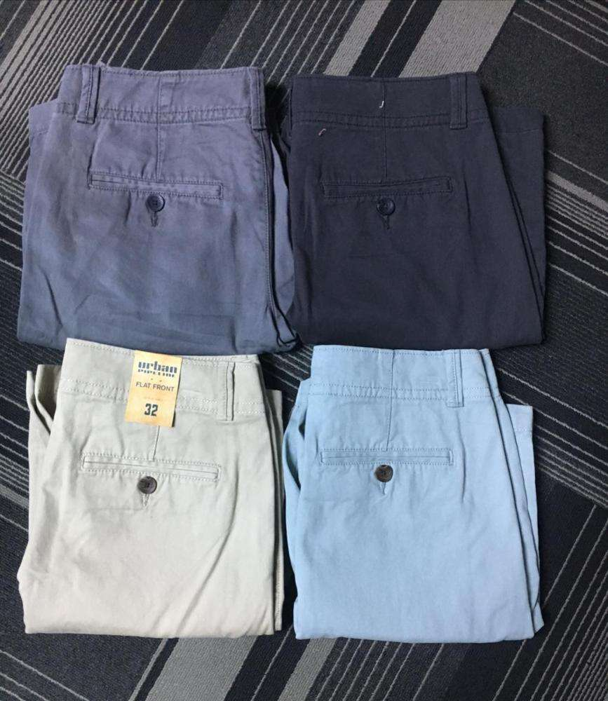Bangladesh Voorraad Lot Apparels/Doek Branded Labels Mannen Chino Shorts Casual Bermuda Stretch Leisure Capri Broek Zomer Broek