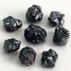 ROUGHT UNCUT BLACK DIAMONDS