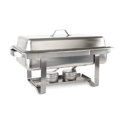 HIGHLY RESISTANT RECTANGULAR AND ECONOMIC STAINLESS STEEL BUFETERAS BUFFET CHAFER