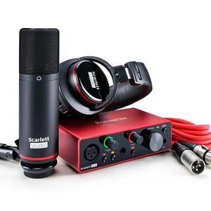 ASLI BARU Focusrites Scarletts 2i2 Studio 2nd Gen Audio Interface USB dan Merekam Bundel dengan Alat Pro