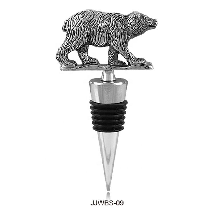 Wholesale Special Fancy Design Custom Bear Shape Wine Bottle Stopper