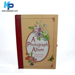 Indonesia Custom Printing Leather Hardcover Guest Books for Memorial Service