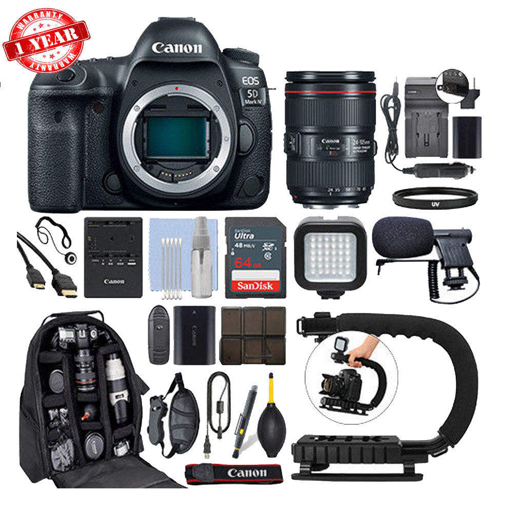 Wholesales For Canon EOS 5D Mark IV DSLR Camera & 24-105mm f/4L II USM Lens+ 64GB Pro Video Kit