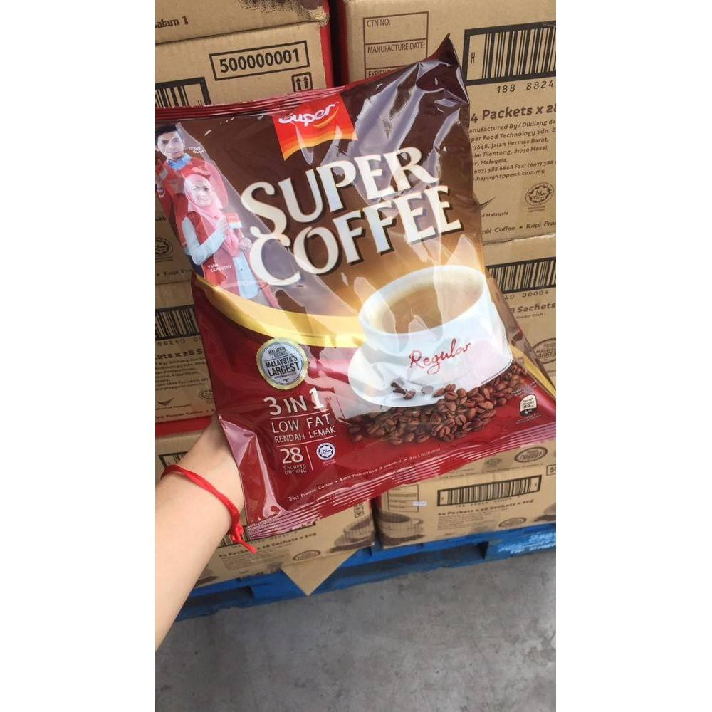 Hot Selling Super Instant Roasted White Coffee Mix 3 in 1 Powder Sachets Halal