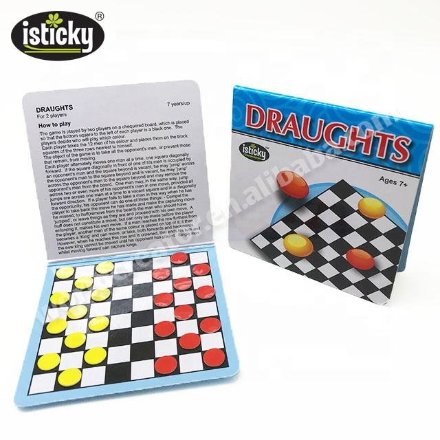 Custom Portable Mini Board Game Draughts Travel Games