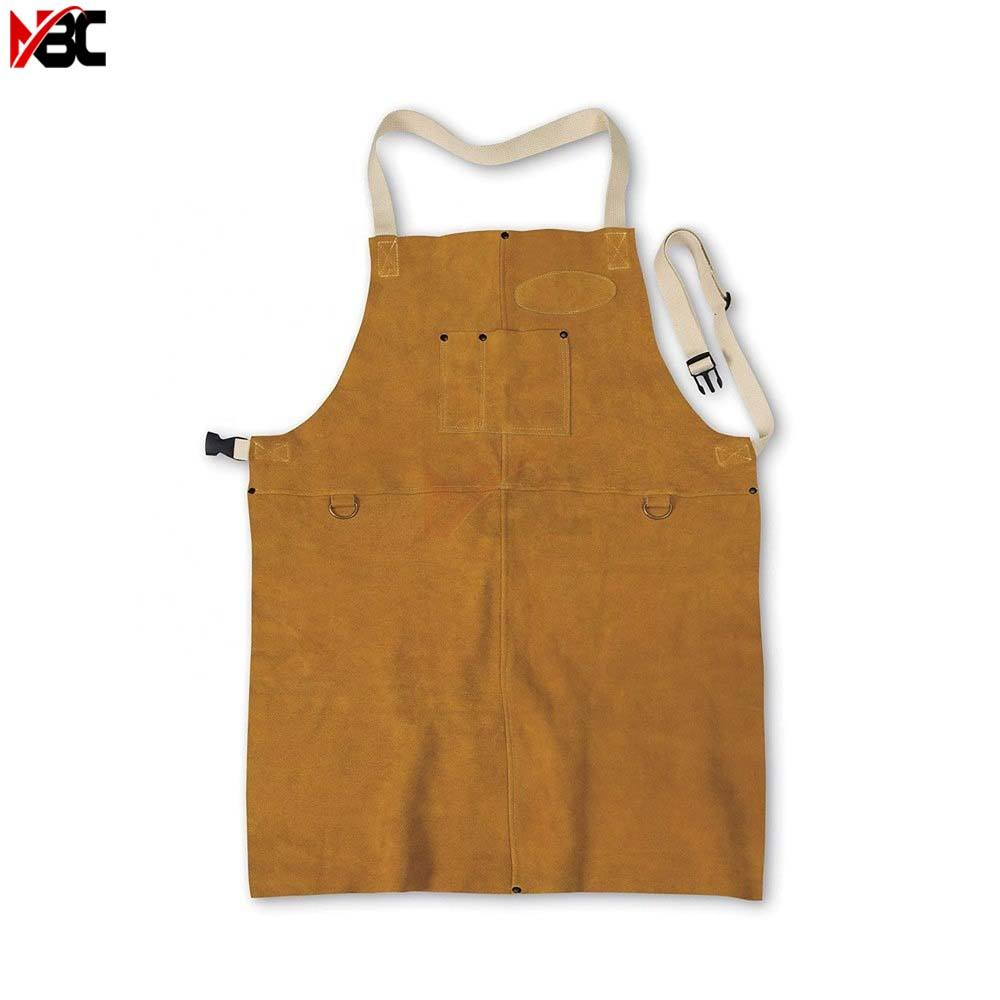 High Quality Cowhide Leather Welded Apron Thickened and Big Size Welder Protective Apron