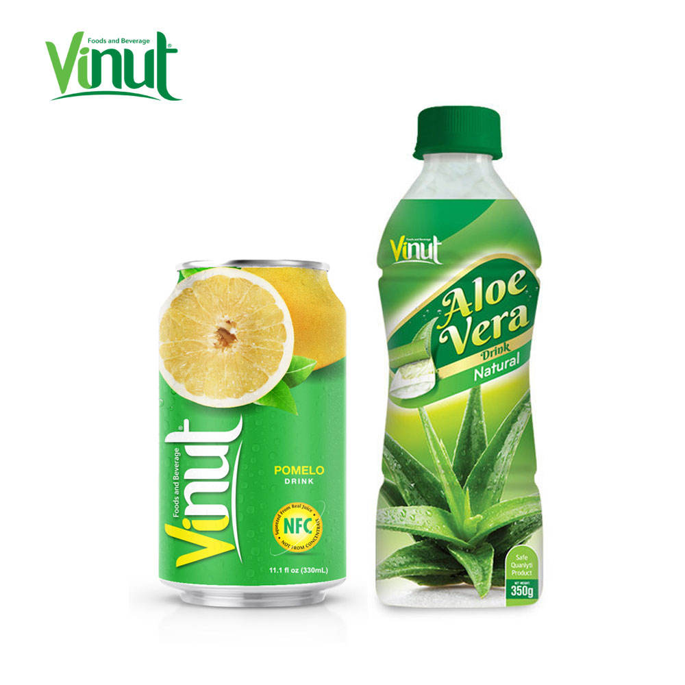 350ml VINUT Bottled Taiwan Aloe Vera Juice Drink with pulp assorted flavors 500 ml