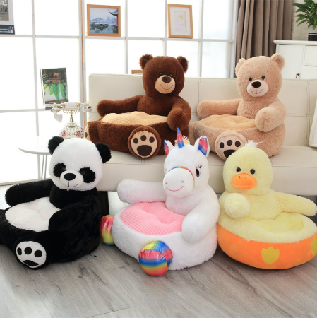 Custom Lovely Teddy Bear Panda Unicorn Duck Kids Sofa Chair/EasterPlush Seat Baby Nest Sleeping Bed Adult Pillow Stuffed Cushion