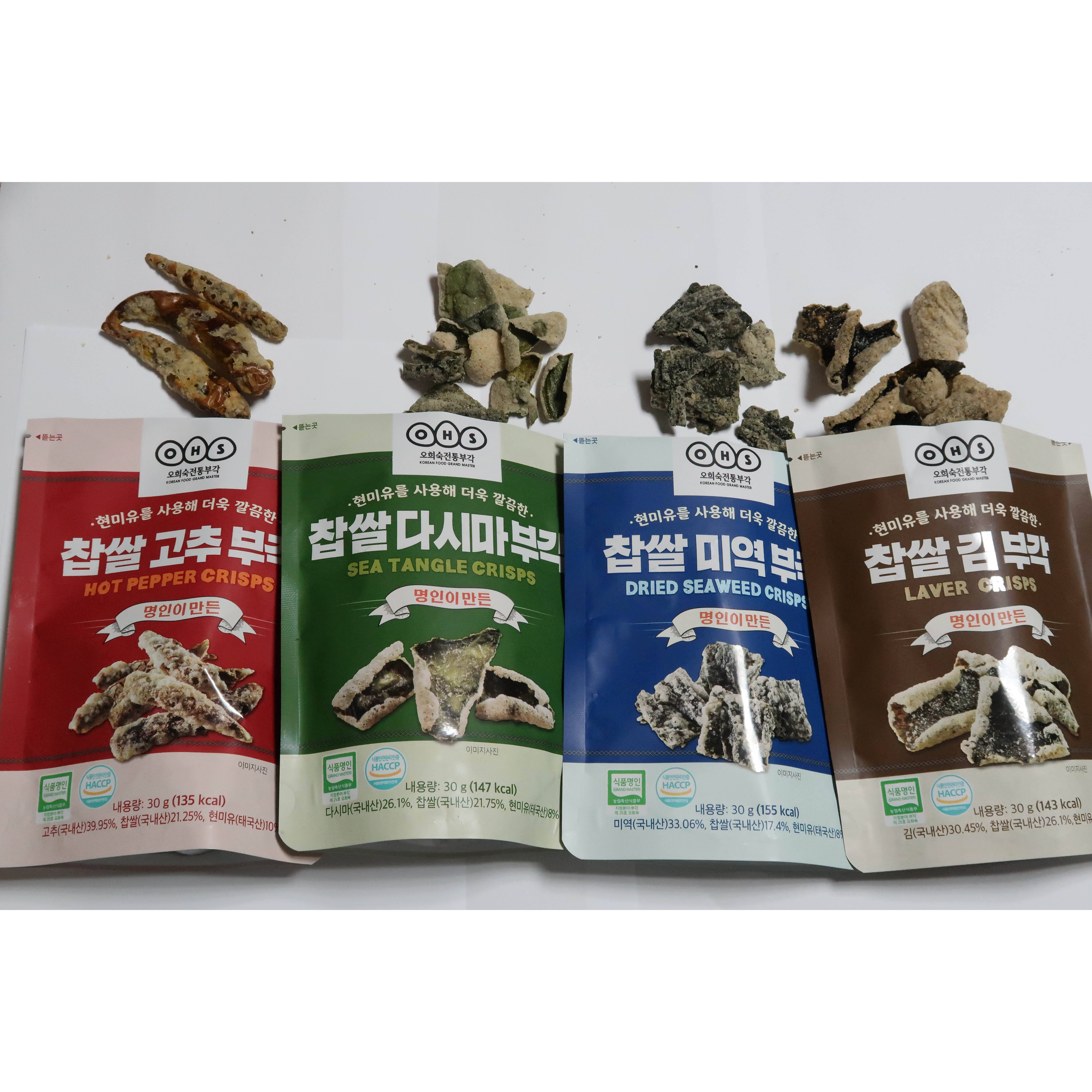 OEM ODM privat Bag laver kelp seaweed healthy Korean fish and snack can glutinous rice potato chips Master Handmade Traditional