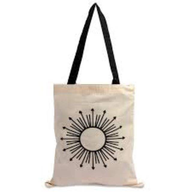 2020 New Recycle Organic Cotton Canvas Tote Grocery Bag With Logo Printing nach Cotton Bag