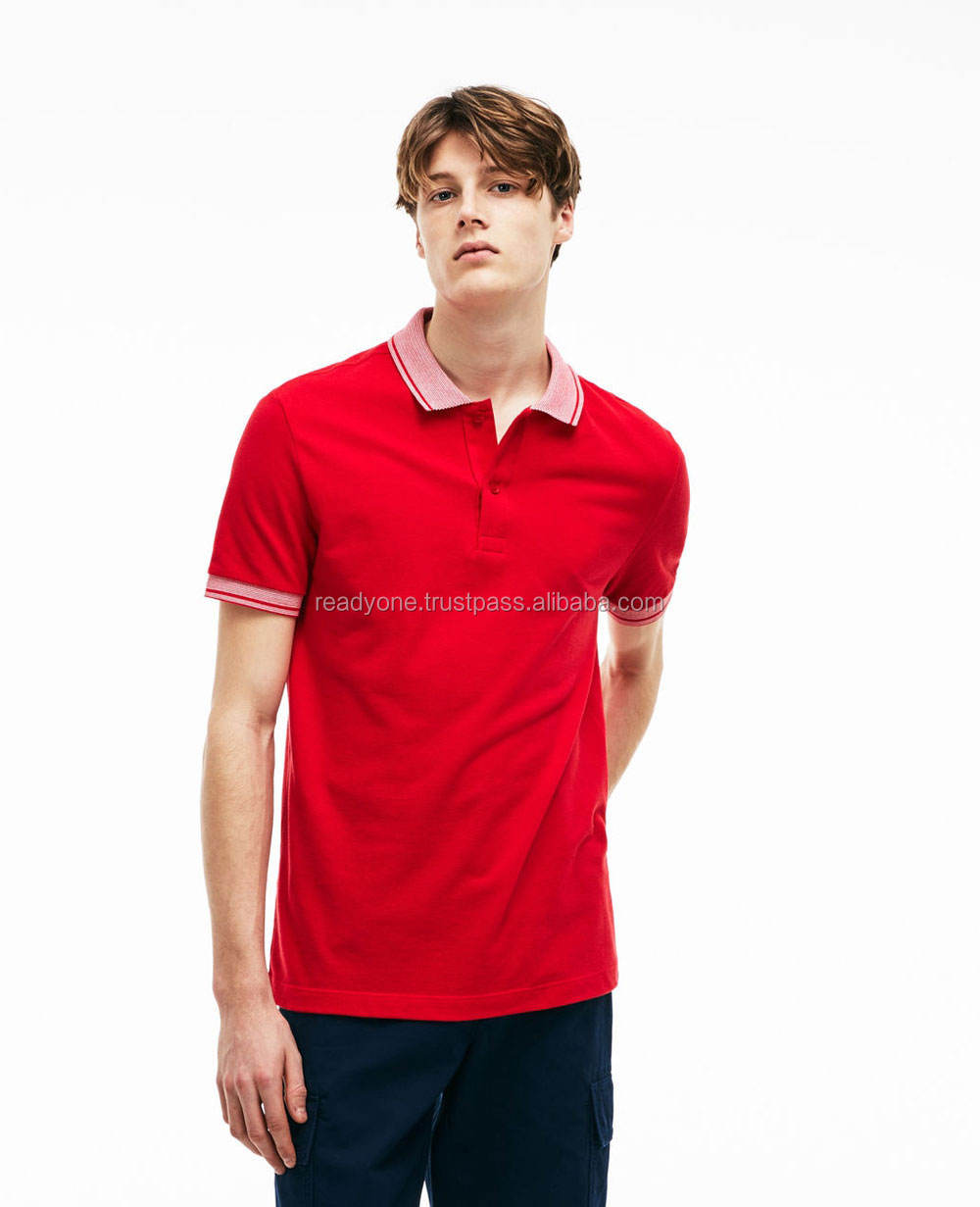 Wholesale 100% cotton red short sleeve polo t shirt cheap custom printed dye sublimation moisture quick dry red
