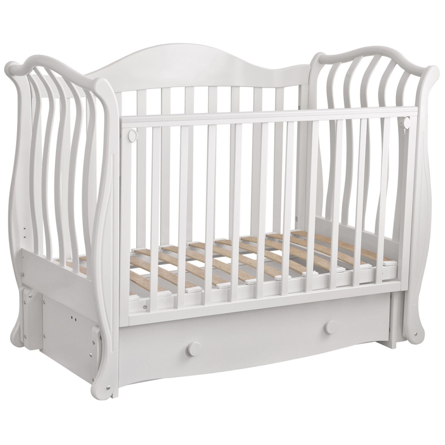 "Hot Selling Orthopedische Eco Massief Berken Hout Baby <span class=keywords><strong>Bed</strong></span> Wieg ""Julianna"" Met Een Longitudinale Swing Slinger, elegant Design"