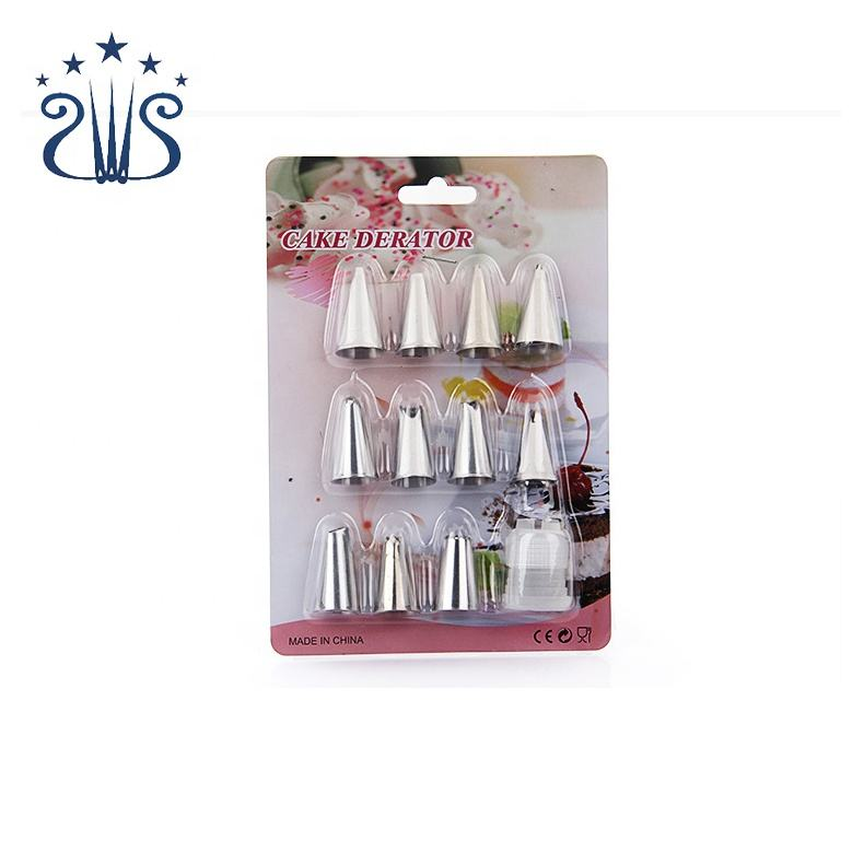 12Pcs Pastry Nozzle Set Cake Decorating Tools Cream Icing Tip DIY Icing Piping Cream Nozzles Tools