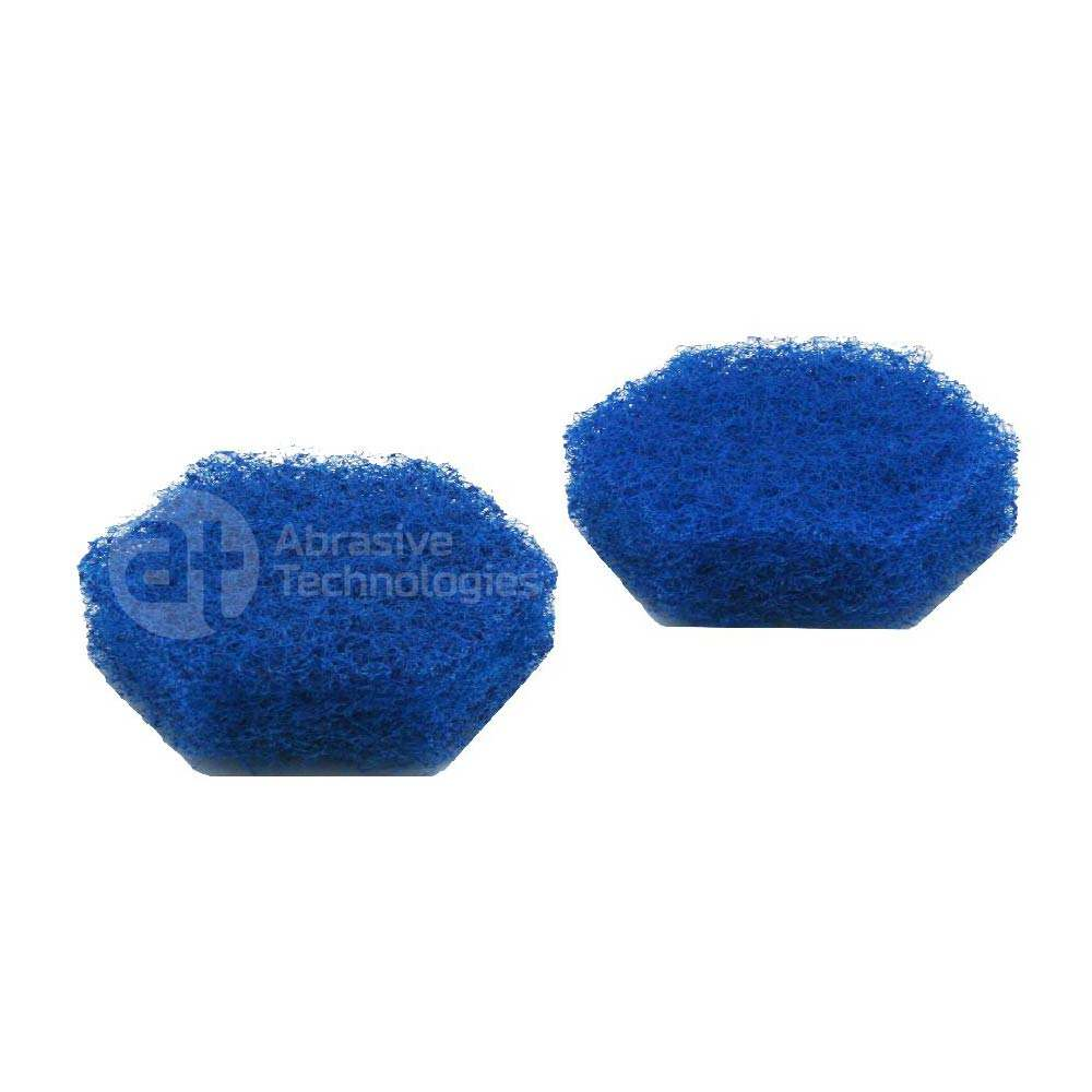 Blue hex-shape hand pad 92*80mm tile floor scrubber manual cleaning