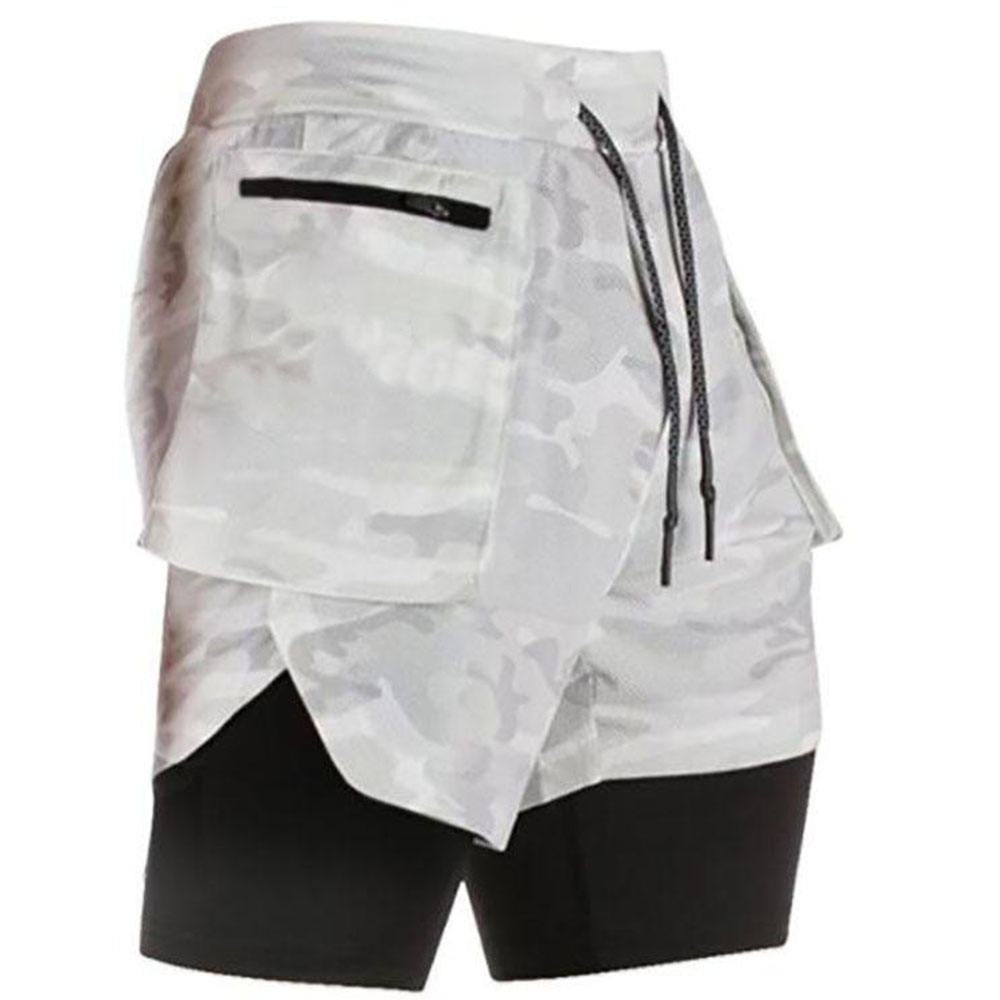 Hot Selling Mens Oefening <span class=keywords><strong>Shorts</strong></span> Workout Running 2 In 1 Dubbeldeks Training Gym <span class=keywords><strong>Shorts</strong></span> Met Zakken