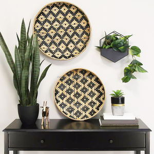 Woven Bamboo Wall Art Hanging Decor, Bamboo PLACEMAT for Home made in Vietnam