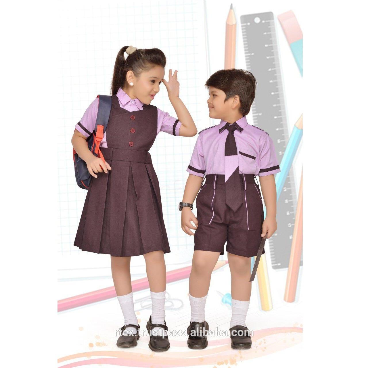 Plain color school uniform set for boys and girls for all age groups - S41