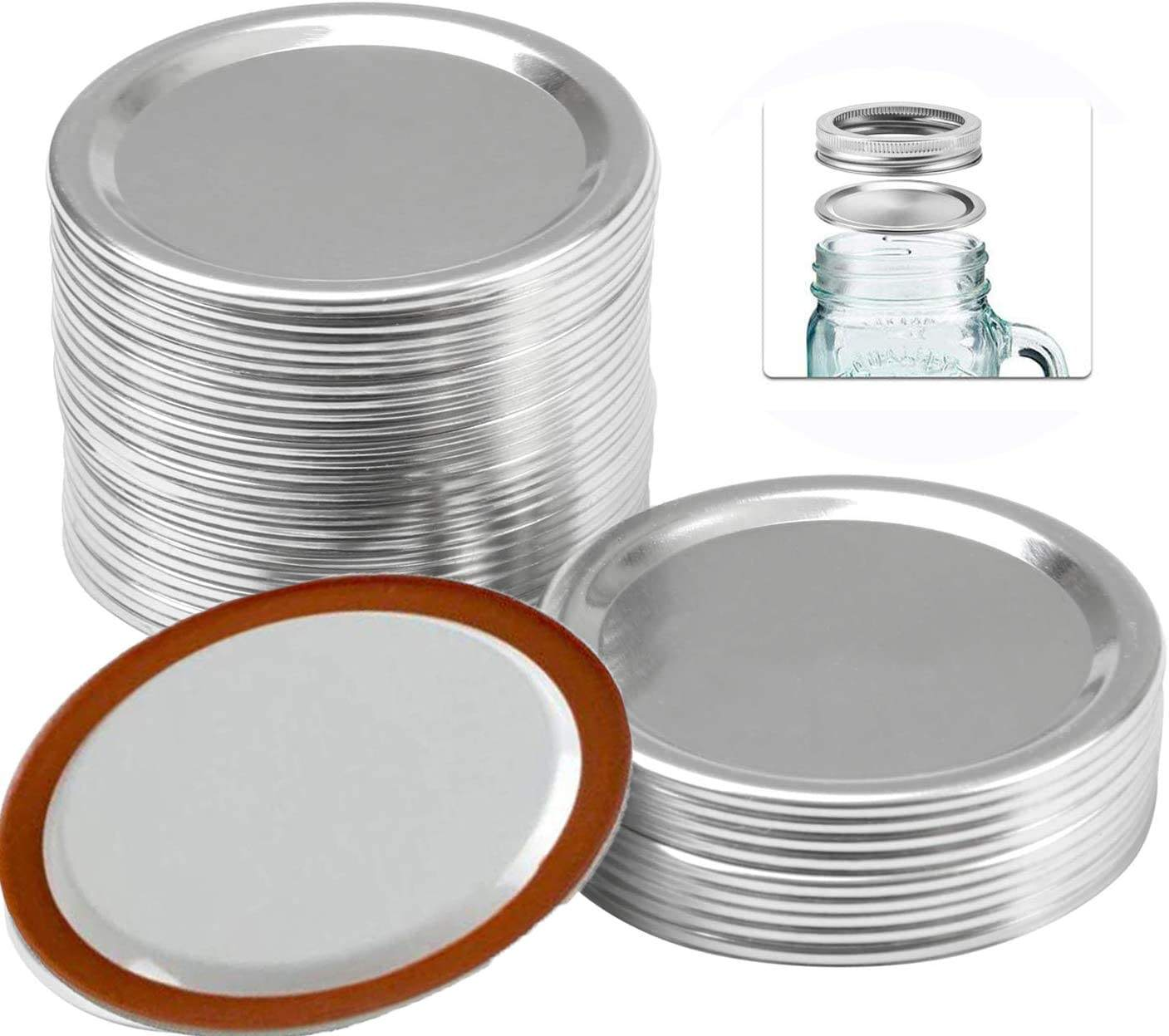 2020 Split-type Leak Proof And Secure Tinplate Regular Mouth Mason Jar Lids Canning Jar Caps Cover for Daily Kitchen Home Use