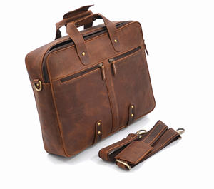 Hunter Lederen Executive Office Laptop Vintage Bruin Lederen Tas Voor Heren