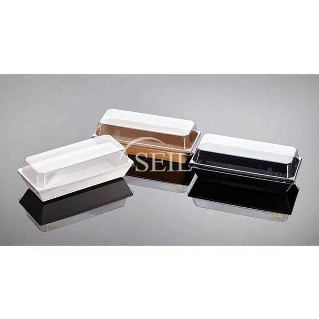 SL P203, Eco Friendly Disposable Kraft Paper Container / Takeout Sushi, Sandwich and Hotdog, Food Grade Kraft Paper Container