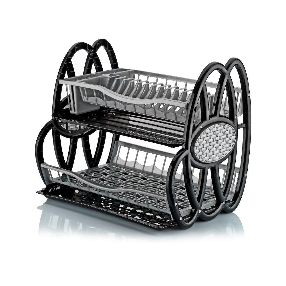 High Quality Clear Plastic Kitchen Double Dish Rack Best Price Product