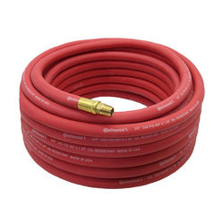 "Continental 50 ft x 3/8"" Red Rubber Air Hose 250 PSI"