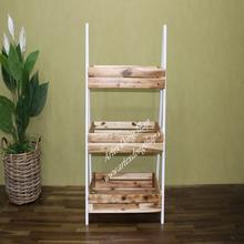 Magazine basket tower with wooden frame, for home decoration and home furniture - HG0215A-1MC01