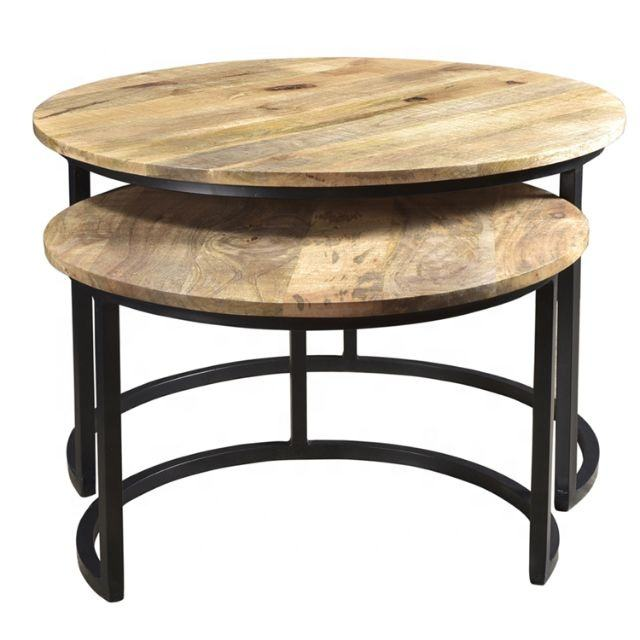 Vintage Mango wood furniture design decorative round Coffee Table