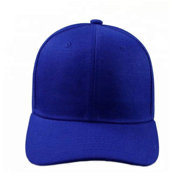 new promotional soft sports blue color 5 panel hats caps
