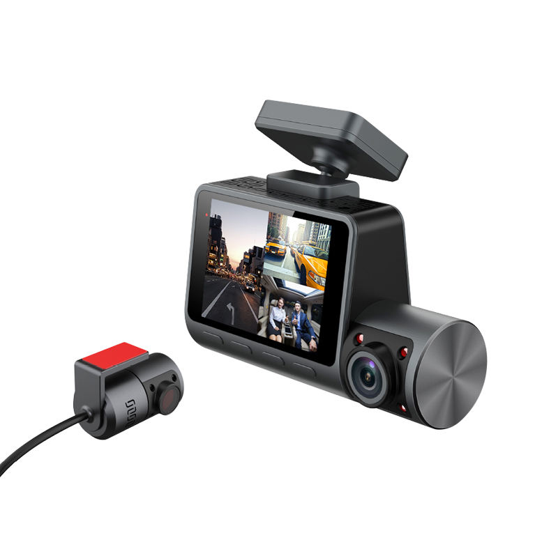 3 Channel DashCam with Magnet Mount Support WiFI GPS Function Car Black Box
