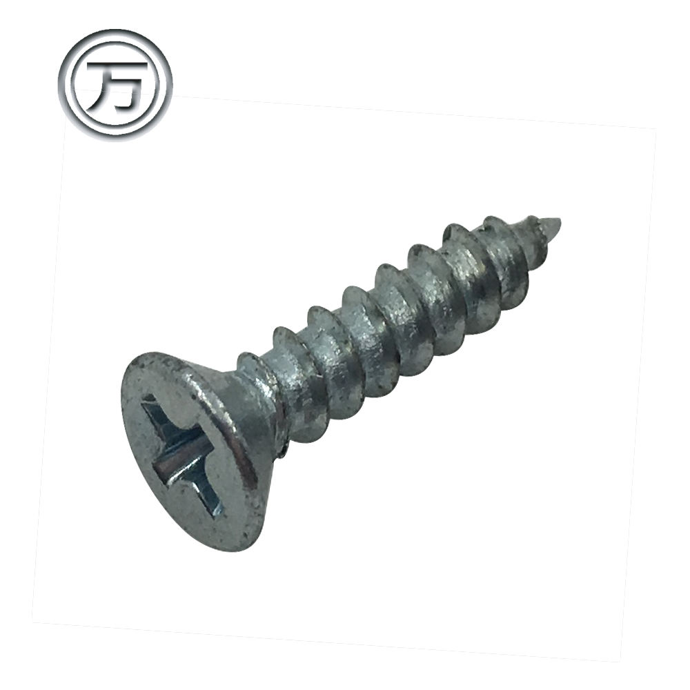 Carbon steel zinc plating self-tapping Flat Screw
